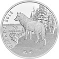 Канада 20 долларов 2018 Волк (Canada 20$ 2018 Paw Prints on the Edge Wolf).Арт.60