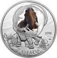 Канада 20 долларов 2018 Шерстистый Мамонт Замороженные во Льду (Canada 20C$ 2018 Frozen in Ice Woolly Mammoth).Арт.000480556116/63