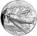 Ниуэ 1 доллар 2017 Истребитель Бумеранг Авиация (Niue 2017 $1 CAC Boomerang Fighter Plane Ultra High Relief).Арт.60