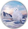 Канада 30 долларов 2018 Полярная Сова серия Арктические животные и Северное сияние (Canada 30$ 2018 Glow-In-The-Dark Coin Arctic Animals and Northern Lights Snowy Owl).Арт.60