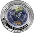 Австралия 5 долларов 2018 Земля серия За Пределами Земли Выпуклая форма (Australia 2018 $5 The Earth and Beyond the Earth Silver Proof Domed Coin