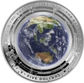 Австралия 5 долларов 2018 Земля серия За Пределами Земли Выпуклая (Australia 2018 $5 The Earth and Beyond the Earth Silv Proof Domed Coin).Арт.60