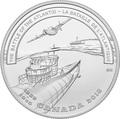 Канада 20 долларов 2018 Самолет B-24 Liberator Подводная Лодка U-305 Корабль HMCS St. Croix серия Линия фронта Вторая мировая война (Canada 20$ 2018 Second World War Battlefront The Battle of the Atlantic).Арт.60