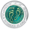 Австрия 25 евро 2018 Антропоцен (Austria 25 euro 2018 Anthropocene Silver Niobium Coin).Арт.60