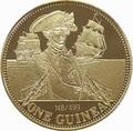 Тристан-да-Кунья 1 гинея 2008 Нельсон Корабль (Tristan da Cunha 1 guinea 2008 Lord Nelson Ship Gold Proof).Арт.K0,55G