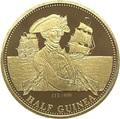 Тристан-да-Кунья 0,5 гинеи 2008 Нельсон Корабль (Tristan da Cunha half guinea 2008 Lord Nelson Ship Gold Proof).Арт.K0,275G