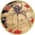Ниуэ 100 долларов 2018 Паук (Niue 2018 $100 Deadly & Dangerous Red-Back Spider 1Oz Gold Proof).Арт.011624655579