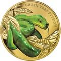 Ниуэ 100 долларов 2019 Зеленый Питон Замечательные Рептилии (Niue 100$ 2019 Remarkable Reptile Green Tree Python 1Oz Gold Proof).Арт.63