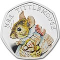 Великобритания 50 пенсов 2018 Мышь Mrs.Tittlemouse Персонажи Беатрис Поттер (UK 50 pence 2018 Mrs.Tittlemouse Beatrix Potter Silver).Арт.000439856137/63