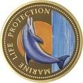Палау 200 долларов 1998 Дельфин Корабль Нептун Защита Морской Жизни (Palau 1998 $200 Dolphin Marine Life Protection 1Oz Gold Proof).Арт.009527155896K2,3G/63