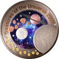 Гана 5 седи 2017 Сокровища Вселенной 10 металлов Космос 10 в 1 (Ghana 2017 5 cedis Treasures Of The Universe 10 In 1 Coin 1oz Silver).Арт.63