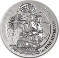 Руанда 50 франков 2018 Корабль Индевор (2018 Rwanda 50 Franc Ship Endeavour 1 oz Silver Nautical Ounce BU).Арт.63