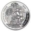 Руанда 50 франков 2018 Корабль Индевор (2018 Rwanda 50 Franc Ship Endeavour 1 oz Silver Nautical Ounce Proof).Арт.63