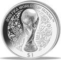 Науру 1 доллар 2018 Футбол ФИФА 2018 Чемпионат Мира в России Кубок (Nauru 1$ 2018 FIFA World Cup in Russia).Арт.63