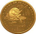 Гибралтар 1/5 кроны 1993 Мистер Джереми Фишер Лягушка Рыбалка 100 лет Кролику Питеру Раббиту (Gibraltar 1/5 crown Jeremy Fisher 100 Years of Peter Rabbit 1/5oz Gold).Арт.64