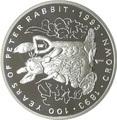 Гибралтар 1 крона 1993 Питер Раббит Кролик 100 лет Кролику Питеру Раббиту (Gibraltar 1Cr 1993 Peter Rabbit 100 Years of Peter Rabbit 1oz Silver Proof).Арт.000067617896/64