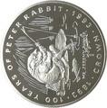 Гибралтар 1 крона 1993 Мистер Джереми Фишер Лягушка Рыбалка 100 лет Кролику Питеру Раббиту (Gibraltar 1Cr 1993 Mr.Jeremy Fisher 100 Years of Peter Rabbit 1oz Silver Proof).Арт.000253756243/64