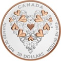 Канада 20 долларов 2018 Свадьба Сердце (Canada 20C$ 2018 Best Wishes On Your Wedding Day).Арт.000538356330/68