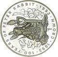 Гибралтар 1 крона 1993 Питер Раббит Кролик 100 лет Кролику Питеру Раббиту (Gibraltar 1Cr 1993 Peter Rabbit 100 Years of Peter Rabbit C-N).Арт.195546/68