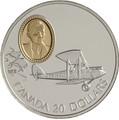 Канада 20 долларов 1992 Де Хэвиленд Джипси Мот Муртон А.Сеймура Авиация (Canada 20$ 1992 Aviation Series De Havilland Gipsy Moth Murton A.Seymour 1oz Silver Coin).Арт.68