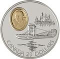 Канада 20 долларов 1994 Кертисс HS-2L Стюарт Грэхэм Авиация (Canada 20$ 1994 Aviation Series Curtis HS-2L Stuart Graham 1oz Silver Coin).Арт.68