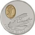 Канада 20 долларов 1994 Виккерс Vedette Уилфред Т.Рейд Авиация (Canada 20$ 1994 Aviation Series Vickers Vedette Wilfred T.Reid 1oz Silver Coin).Арт.68