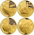 Ниуэ 4х5 долларов 2017 Великая Отечественная Война 1942 год Набор Золотых Монет Сталинград Эль Аламейн Мидуэй Проект Манхэттен Танк Корабль Бомба (Niue 4х5$ 2017 Set Gold Coins War 1942 Stalingrad El