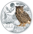 Австрия 3 евро 2018 Сова (Colourful Creatures The Owl Austria 3 euro 2018).Арт.68