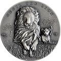 Камерун 2000 франков 2018 Сесил Лев Слон (2018 Cameroon 2000 Francs Cecil the Lion 2oz Silver).Арт.70