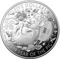 Австралия 5 долларов 2019 Год Свиньи Лунный Календарь (Australia 5$ 2019 Year of the Pig Lunar).Арт.69