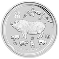 Австралия 1 доллар 2019 Год Свиньи Лунный Календарь (Australia 1$ 2019 Year of the Pig Lunar).Арт.69