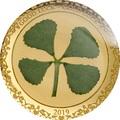 Палау 1 доллар 2019 Клевер На Удачу (Palau 1$ 2019 Good Luck 4-leaf Clover).Арт.69