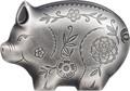 Монголия 1000 тугриков 2019 Веселая Свинья Фигурка (Mongolia 1000 Togrog 2019 Jolly Silver Pig 1oz).Арт.69