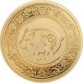 Монголия 1000 тугриков 2019 Год Свиньи (Mongolia 1000 Togrog 2019 Year of the Pig Gold).Арт.69