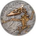 Монголия 500 тугриков 2018 Птерозавр Эволюция (Mongolia 500T 2018 Pterosaur Evolution 1oz Silver).Арт.69