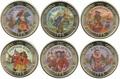 Куба 6х1 песо 1995 Пираты Карибского Моря Набор Монет (Cuba 6х1 pesos 1995 Pirates of the Caribbean Coins Set).Арт.69