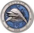 Барбадос 5 долларов 2019 Дельфин Подводный Мир (Barbados 5$ 2019 Dolphin Underwater World 3oz Silver).Арт.69