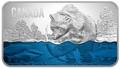 Канада 25 долларов 2018 Медведь Ловит Лосось (Canada 25$ 2018 Salmon Run Ultra High Relief Silver Coin).Арт.69