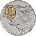 Канада 20 долларов 1995 Флит 80 Канук Омер (Боб) Нури Авиация (Canada 20$ 1995 Fleet 80 Canuck J. Omer (Bob) Noury Aviation Series 1oz Silver Coin).Арт.68