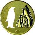 Гана 5 седи 2017 Пингвин Силуэт (Ghana 5 Cedis 2017 Penguin Silhouette 1oz Silver Coin).Арт.000419754963