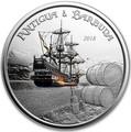 Антигуа и Барбуда 2 доллара 2018 Корабль Рамраннер (Antigua&Barbuda 2$ 2018 Ship Rum Runner 1Oz Silver Coin).Арт.000559956326