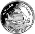 Канада 1 доллар 1979 Корабль Грифон (Canada 1$ 1979 Ship Griffon Silver Coin).Арт.60