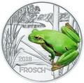Австрия 3 евро 2018 Лягушка (Colourful Creatures The Frog Austria 3 euro 2018).Арт.68