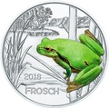 Австрия 3 евро 2018 Лягушка (Colourful Creatures The Frog Austria 3 euro 2018).Арт.68