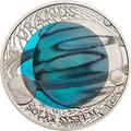Палау 2 доллара 2018 Уран Солнечная Система Ниобий (Palau 2$ 2018 Uranium Solar System Niobium).Арт.67