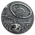 Ниуэ 1 доллар 2018 Космическая Добывающая Станция Метеорит (Niue 1$ 2018 Space Mining Station 1Oz Silver Coin).Арт.60