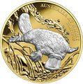 Австралия 100 долларов 2019 Ночная Австралия Утконос (Australia 100$ 2019 Australia at Night Platypus 1oz Gold Proof Coin).Арт.67