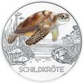 Австрия 3 евро 2019 Черепаха (Colourful Creatures The Turtle Austria 3 euro 2019).Арт.67