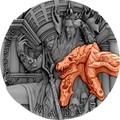 Ниуэ 5 долларов 2018 Боги Олимпа Аид (Niue 2018 5$ Gods of Olympus Hades 2 oz Antique Finish Silver Coin).Арт.67