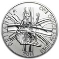 Великобритания 2 фунта 2011 Британия (GB 2£ 2011 Britannia 1 Oz Silver Coin).Арт.67